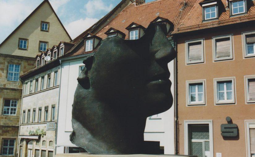 Igor Mitoraj in Bamberg (Juni 2003)